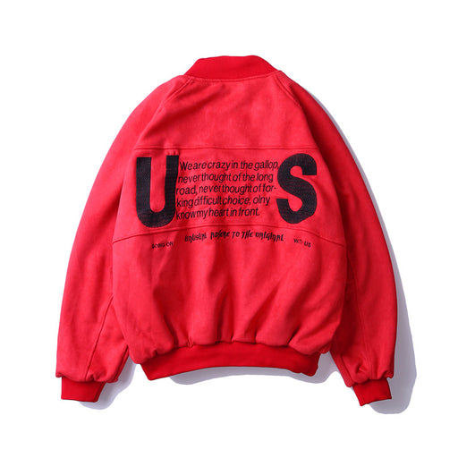 Kokoakeiko Rapper Embroidery letter loose jacket