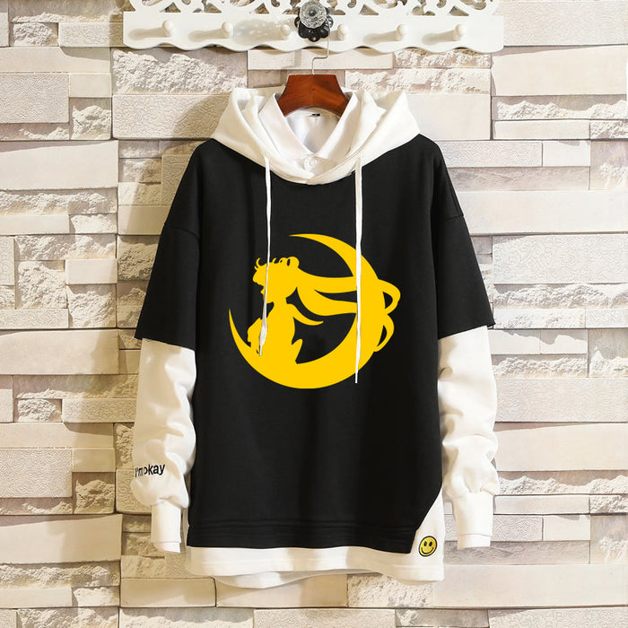 Japanese  Anime Sailor Moon Cartoon Moon Hare Couple Sweatshirt