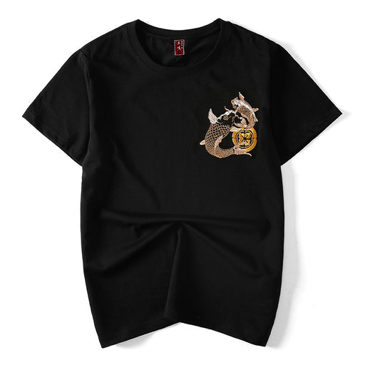 Japanese Sukajan Double carp T-shirt