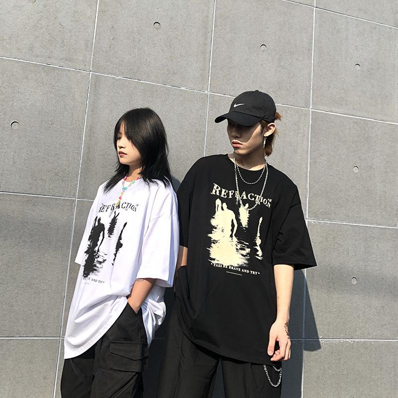 Grunge Hip hop couple short sleeves