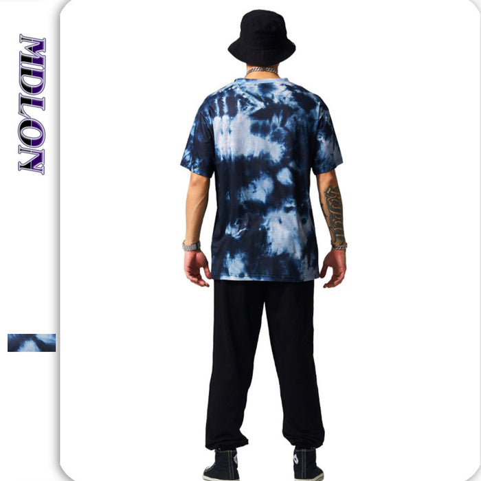 Japanese Street Abstract Irregularity Tie-dye Men's T-shirts