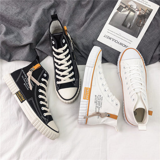 Japanese trendy men's new all-match canvas shoes