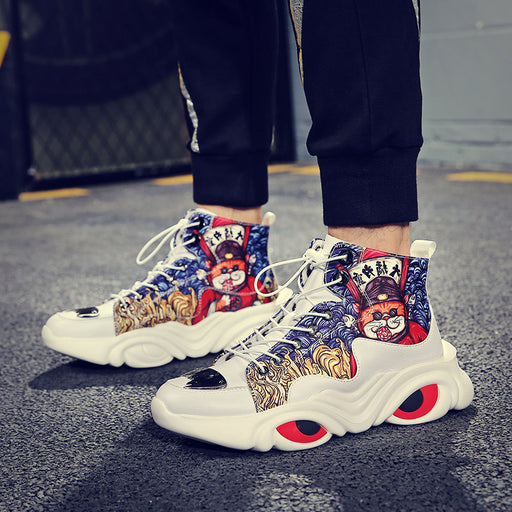 Japanese Street Cool Hip Hop Reflective Dragon Sneaker