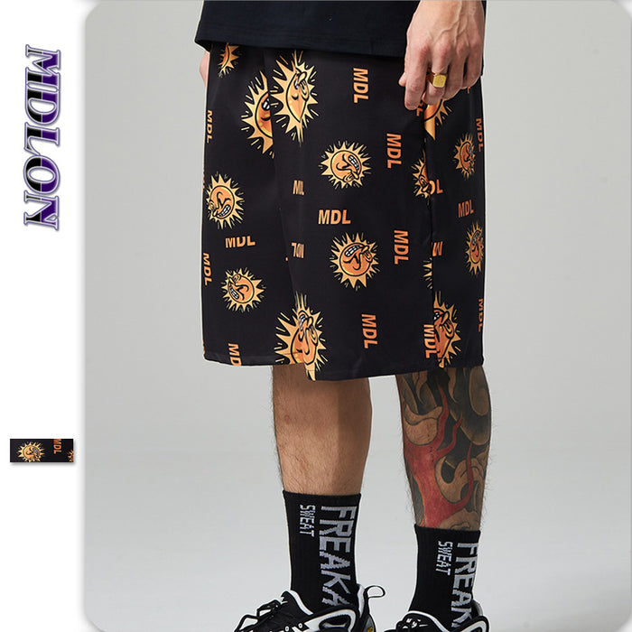 Japanese Street Print Men's Beach Shorts