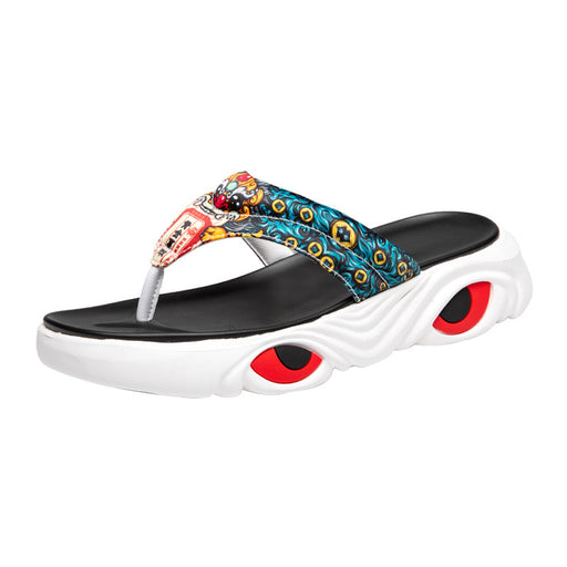Japanese Men's Street Cool Hip Hop Graphic Flip Flop