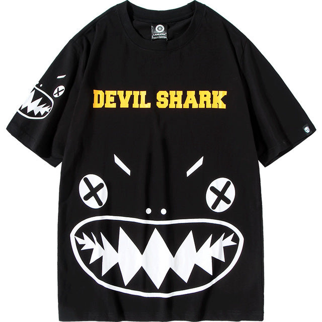 Japanese Anime  -Devil little monster trend loose T-shirt