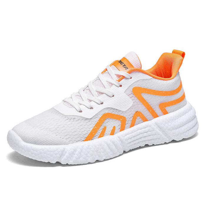 Japanese trendy male popcorn luminous coconut shoes ultralight breathable sneakers