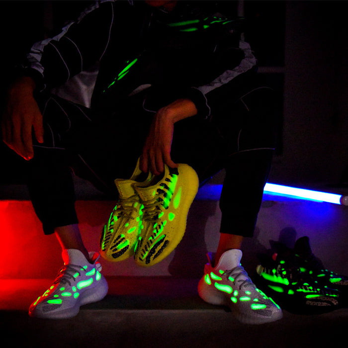 Japanese trendy coconut luminous dinosaur skeleton sneakers