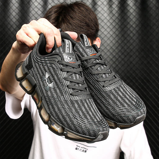Japanese trendy men's popcorn ice silk breathable flying mesh coconut sneakers