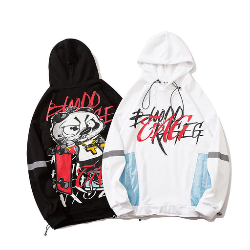 Japanese  Anime   Hip Hop Skateboard Panda Loose Couple Sweatshirt