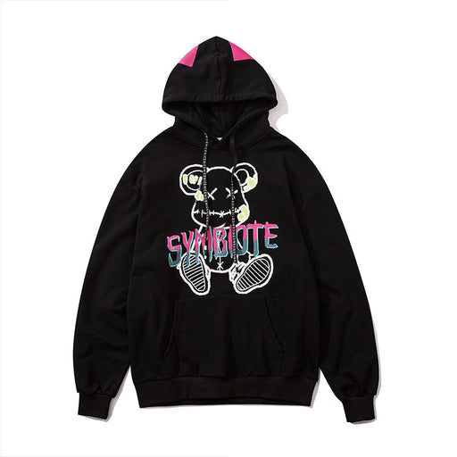 Japanese anime hooded sweatshirt jacket