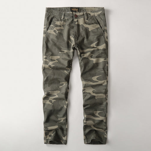 Workwear casual camouflage washed pants sweatpants