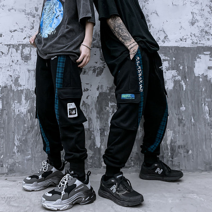 Japanese trendy men with straight and loose feet hip hop all-match pants