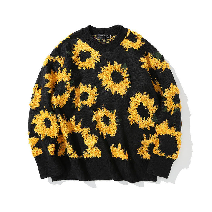 Japanese trendy male hip-hop all-match high-quality sweater