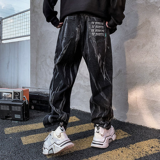 Copy of Japanese trendy men with straight and loose feet hip hop all-match pants