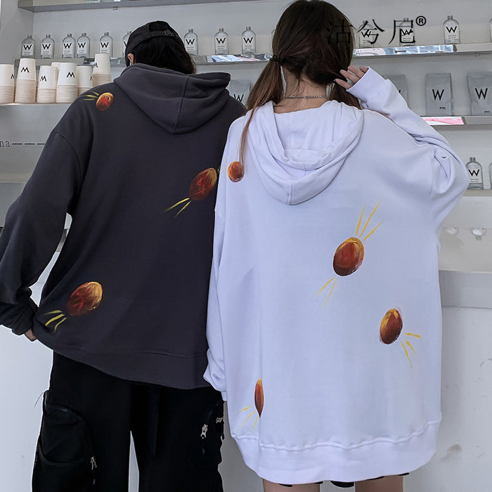 Japanese  Hip-hop trendy sweater