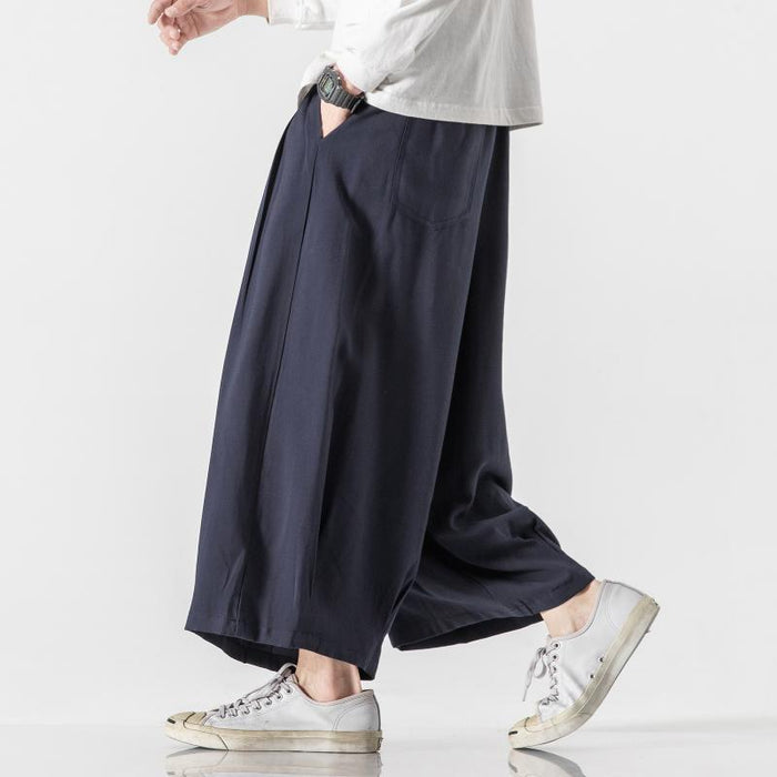 Japanese tooling wide-leg bloomers
