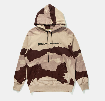 Camouflage Kangaroo Pocket Towel Japanese Street Hooded Sweater