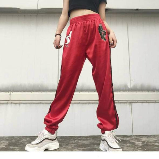 KE5 GoodAndEvil Elastic High Waist Joggers
