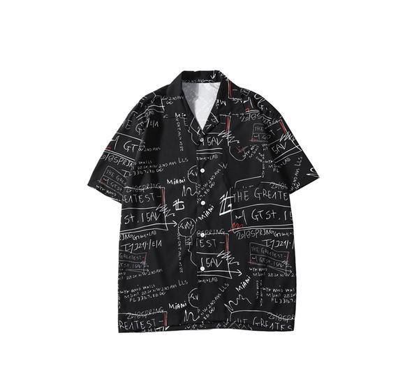 NC4 Casual Graffiti Print Shirt
