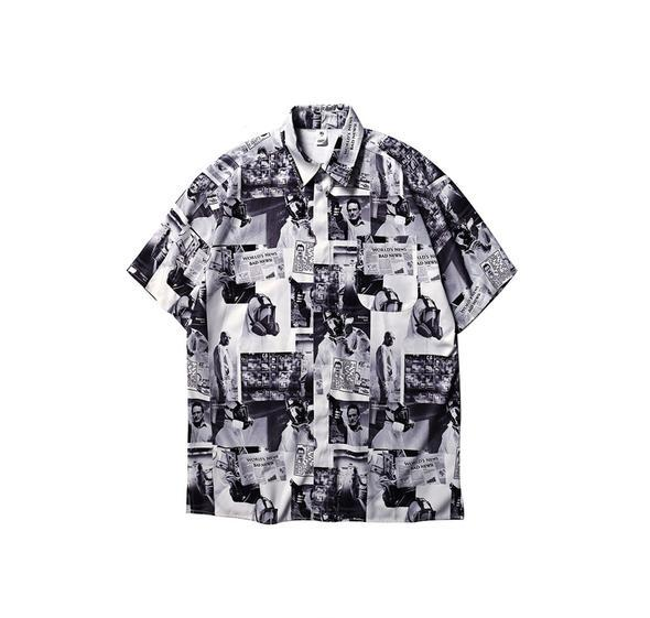Japanese Newspaper Print Shirt