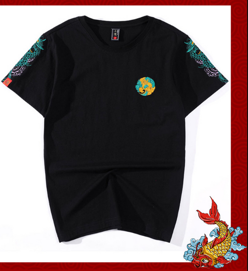 Japanese Sukajan Dragon tattoo T-shirt