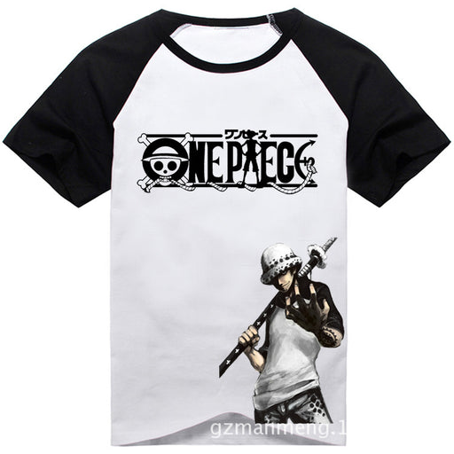 Japanese Anime  Trafalgaro One Piece Clothes T-shirt