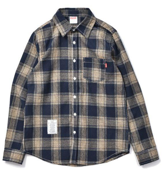 Casual Red Plaid Long Sleeve Inch Original Brand Japanese Street Shirt