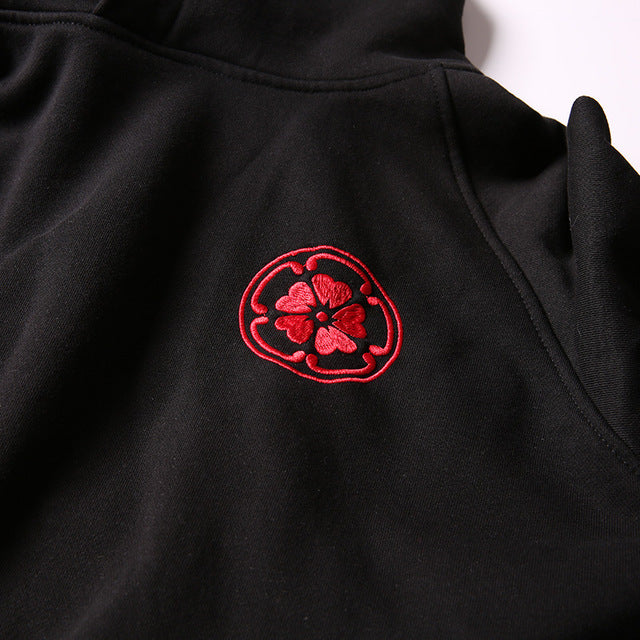 Japanese Anime  Carp embroidery casual hip-hop hoodie