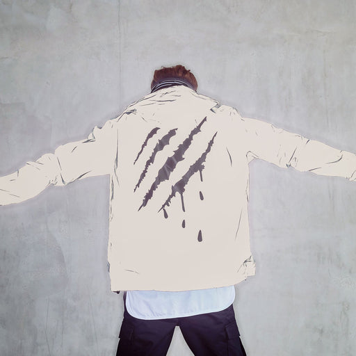 Japanese trendy reflective jacket scratch print jacket