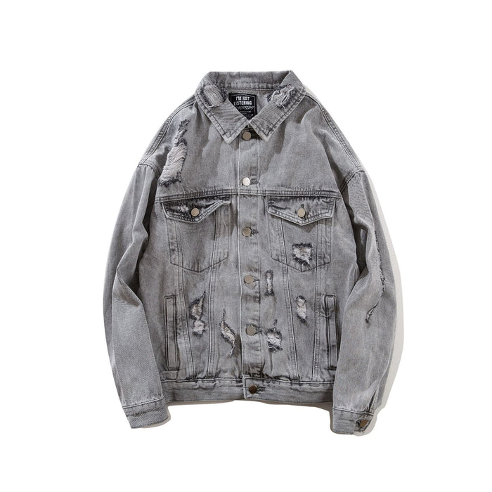 Cross-Border Original Trend Jacket Retro Denim Japanese Street Cardigan Coat