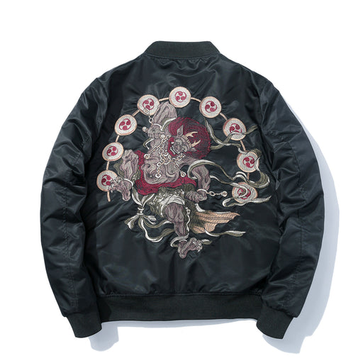 Sukajan bomber jacket-Japanese cartoon anime embroidery