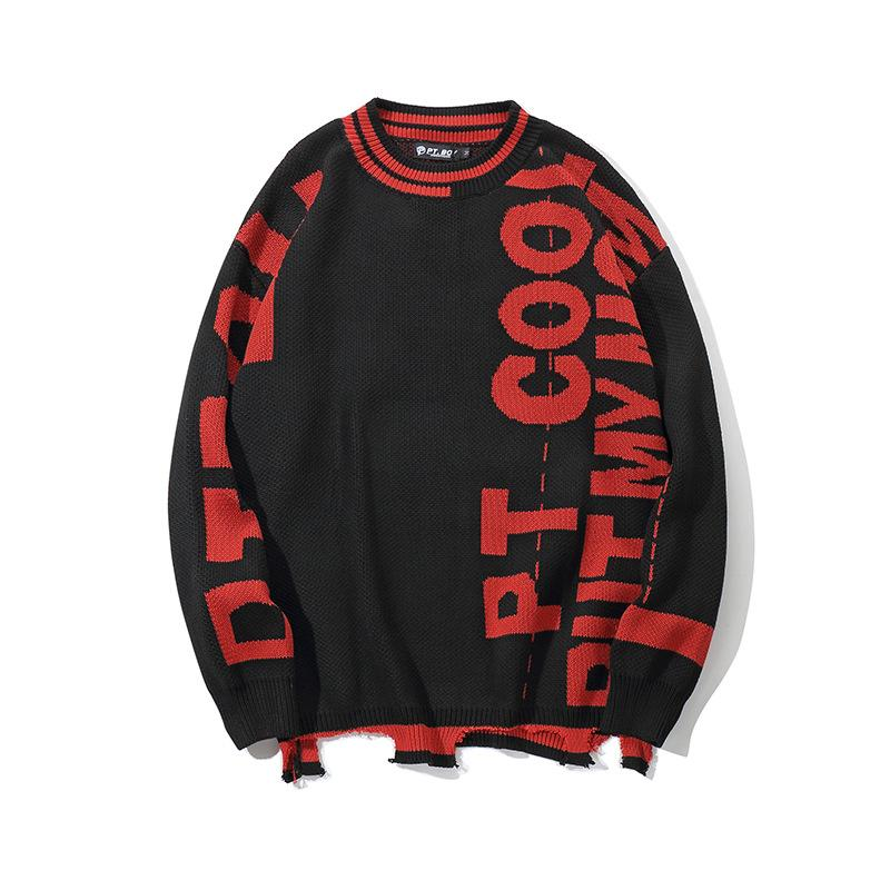 Retro Hit Color Sweater Hipster Japanese Street Tops