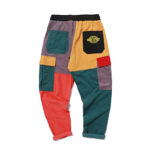 Japanese Corduroy Contrast Color Casual Pants