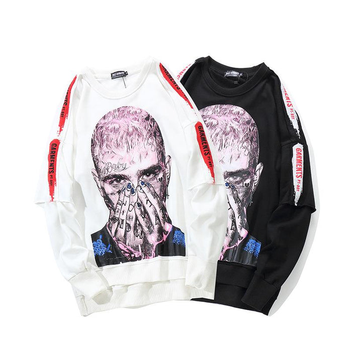 Sweater Head Country Tide Hip Hop Long Sleeve Japanese Street Shirt Jacket