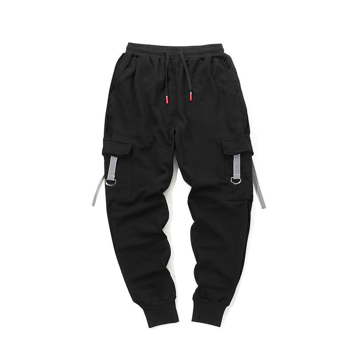 Korean Version Trousers Reflective Tide Brand Japanese Street Hip Hop Beam Pants