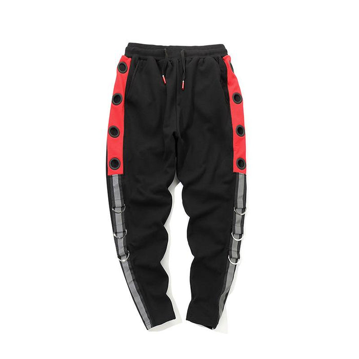 Super Fire Sports Korean Version Hip Hop Stripes Japanese Street Harlan Pants