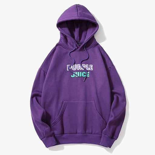 Trend Couples Sweater Personality Wild Purple Hooded Plus Velvet Shirt Sportswear