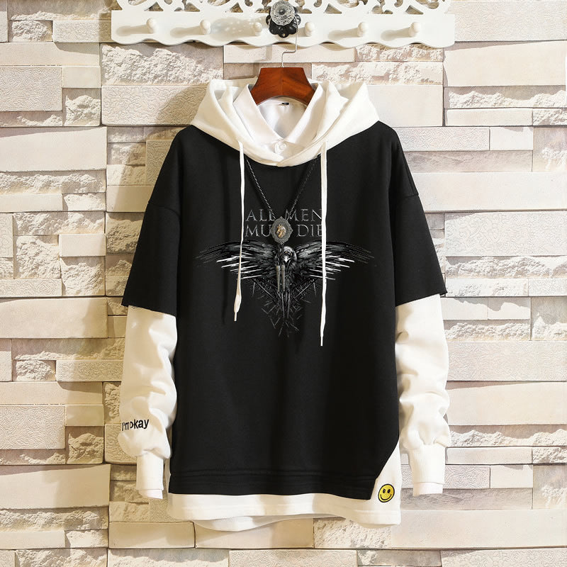 Japanese anime the walking dead three-eyed crow game of thrones anime cartoon sweater