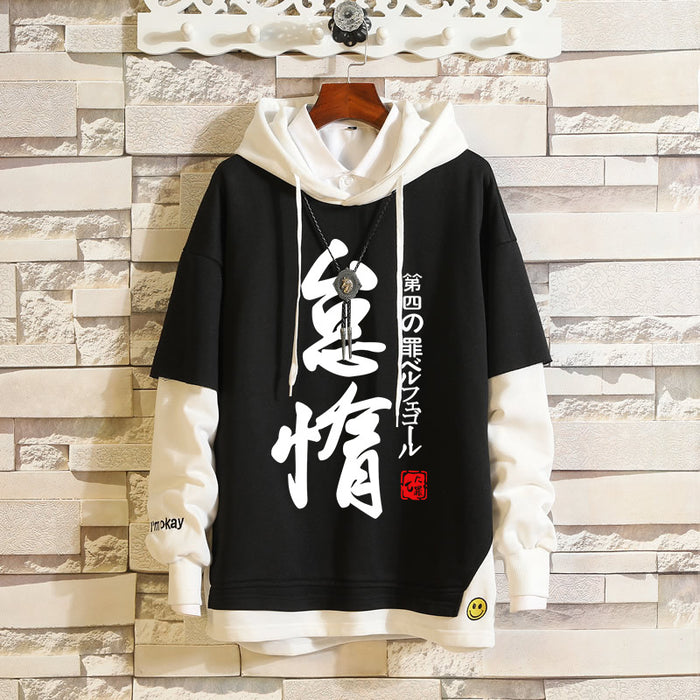Japanese  Anime Seven deadly sins two-dimensional fake two sweaters