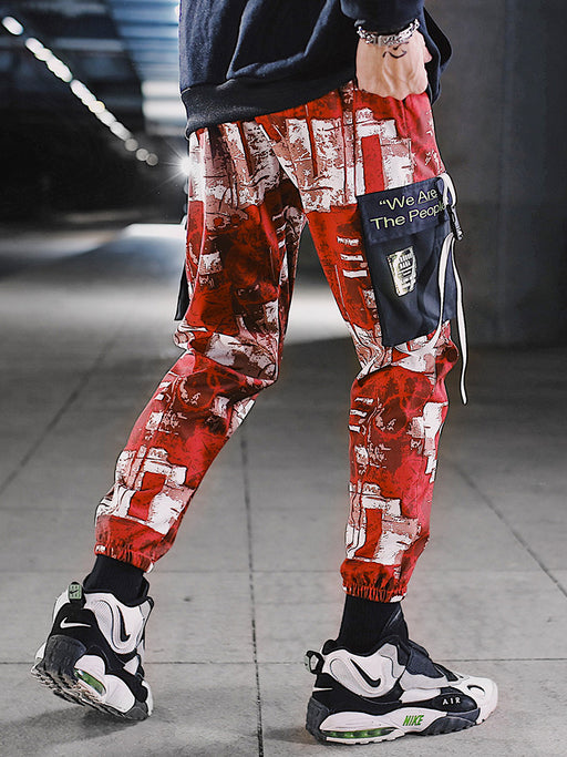 Japanese loose camouflage cargo pants
