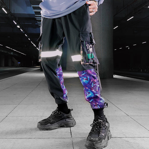Japanese Loose Tide Brand Reflective Hip-Hop Casual Sports Pants