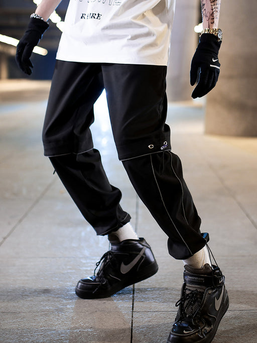 Japanese Straight Trend Reflective Versatile Casual Trousers