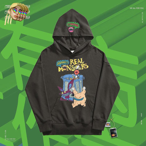 Retro Preppy creative fun blue  90s hoodie