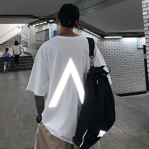 Japanese Trendy Male Personality Reflective T-shirt