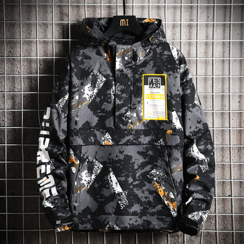 Japanese camouflage jacket loose and versatile Hoodie