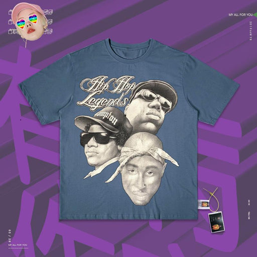 Retro Rock street 80s Hip Hop tribute with neutral T-shirts