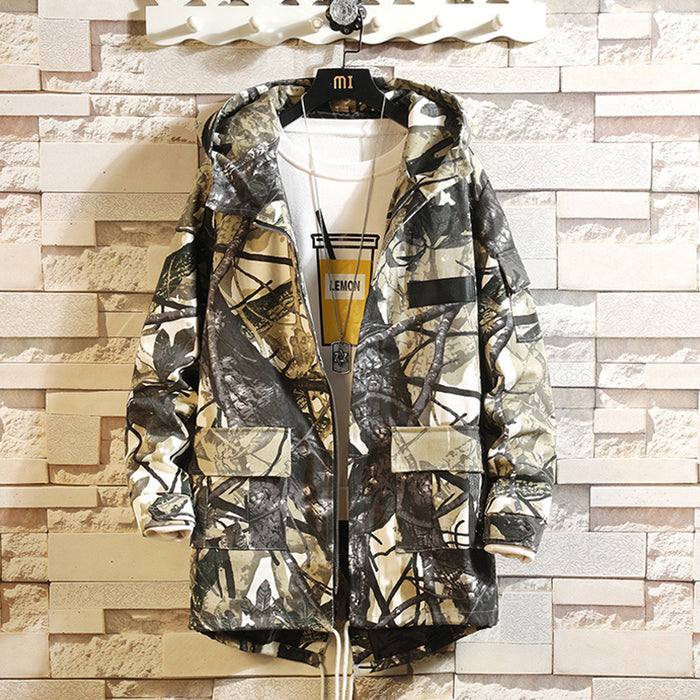 Japanese style loose trend handsome camouflage jacket