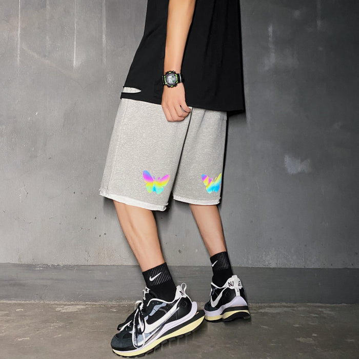 Japanese Reflective butterfly sports five-point pants casual shorts