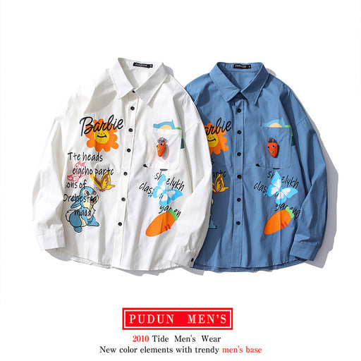 Japanese cartoon anime print shirt